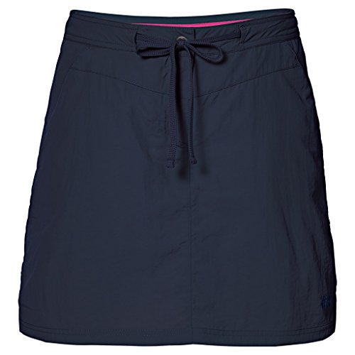 Jack Wolfskin Womens/Ladies Kalahari Quick Dry Nylon Travel Skorts azul oscuro