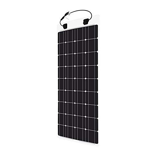 Renogy 100 Watt 12 Volt Extremely Flexible Monocrystalline Solar Panel - Ultra Lightweight, Ultra Thin, Up to 248 Degree Arc, for RV, Boats, Roofs, Uneven Surfaces by Renogy (Image #2)