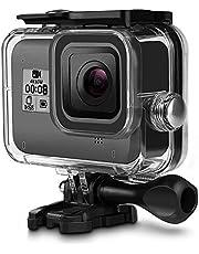 TELEISN Waterdichte Behuizing Case voor GoPro HERO 8 Zwart, 50 M Onderwater Beschermhoes met Duik Filter Rode Beugel+Schroef Accessoires voor Gopro 8 Zwart Action Camera