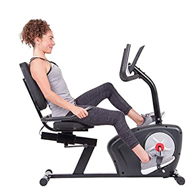 Body Champ BRB2866 Magnetic Recumbent Exercise Bike with Easy Adjustable Seat, Monitor and Pulse Rate Monitoring