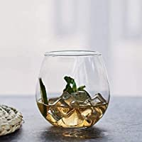 SCRT Vasos de Vino Copa de Cristal Creativo Cristal Cristales sin Base elíptica Vino Tinto Cerveza Copa Copa Copa Whisky Smoothie Japonesa