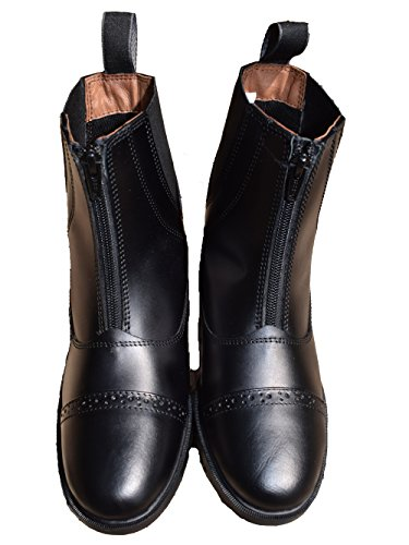 Boots Brown Black Front Jodhpur Boots Zip Riding Black Paddock Leather Sailsbury TRfwnqO0