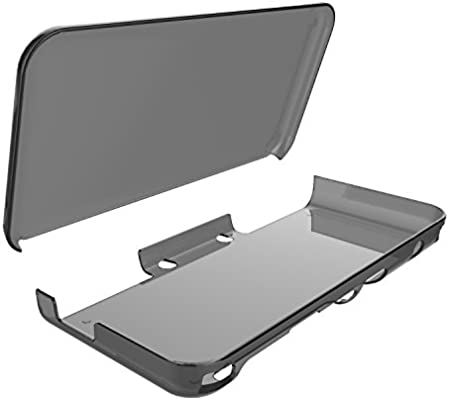 Cover Case for New Nintendo 2DS XL,Crystal Clear Case for New Nintendo 2DS XL - Gray