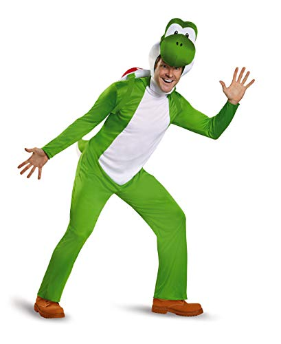 Disguise Men's Yoshi Deluxe Adult Costume, Green, X-Large]()