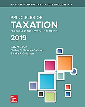 Principles Of Taxation For Business And