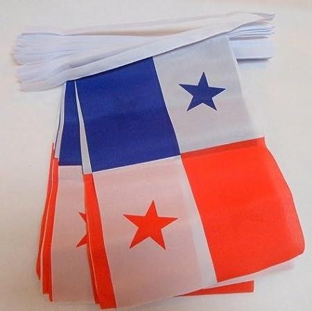 AZ FLAG Guirnalda 12 Metros 20 Banderas de PANAMÁ 45x30cm - Bandera PANAMEÑA 30 x 45 cm - BANDERINES: Amazon.es: Hogar