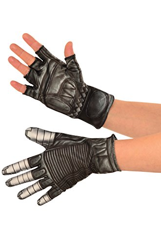 [Rubie's Costume Co. Men's Captain America: Civil War Winter Soldier Gloves, Black, One Size] (Create Your Own Superhero Costume Online)