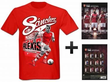 特別セーフ アーセナルFC 2018サッカーカレンダー& Alexis Kids Sanchez Tシャツギフトセット Kids Size 9-11 years years Size B076BKFB7F, アクセサリーshop eito:7ac9c620 --- narvafouette.eu