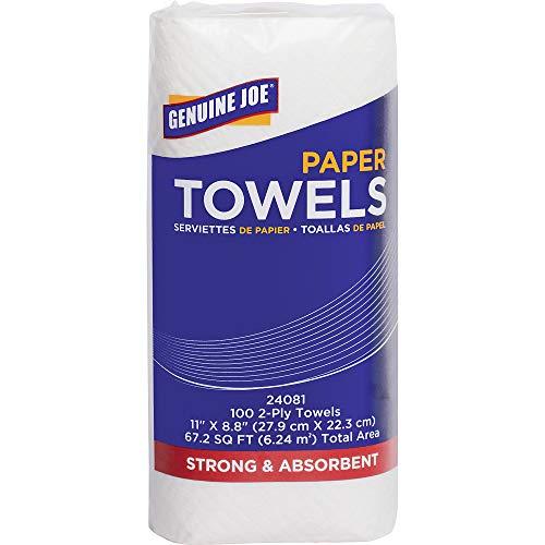 000 Paper Pickup - Genuine Joe 2-ply Household Roll Paper Towels
