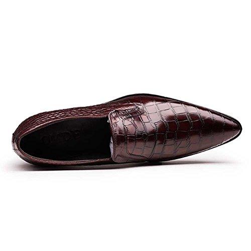 Menn Sko Skli Kjole Skinn Formell På Ekte Loafer Loafers Virksomhet Fulinken Burgunder Alligator txpqPwgZ