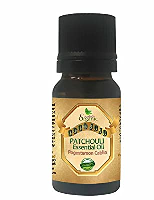 PATCHOULI ESSENTIAL OIL 10 ML Organic Therapeutic Grade A Wellness Relaxation 100% Pure Undiluted Steam Distilled Natural Aroma Premium Quality Aromatherapy diffuser Skin Hair Body Massage