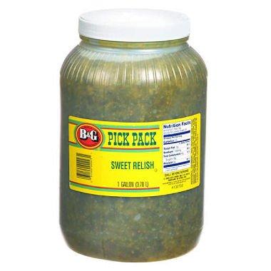 B & G Sweet Relish 1 Gallon (2 Pack) by BG