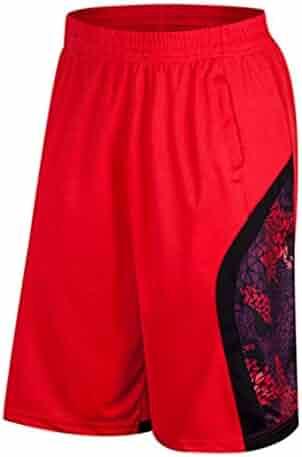 519dcc8ff050 Mikkar Mens Shorts Loose Pants Sweatband Trunks Breathable Fitness Beach  Sport Running