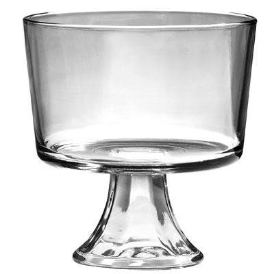 Anchor Presence Table Ware - 3 Quart Dessert Bowl - Glass Bowl - Dishwasher Safe - Crystal Clear Bo