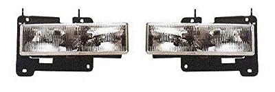 Fits 88 89 90 91 92 93 94 95 96 97 98 Chevrolet GMC Truck Headlight Pair Set NEW 92-99 Blazer Suburban Tahoe Yukon Driver and Passenger Front