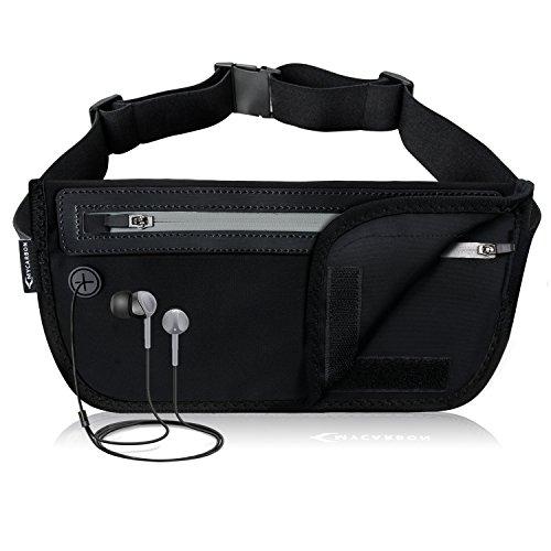 MYCARBON Travel Money Belt RFID Against Invisible Theft Secret Wallet Hidden Under Clothes Belt Wallet Security Travel Pouch