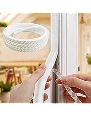 Door Window Brush Strip Self Adhesive Pile Weather Stripping Dustproof Felt Weather Strip Seal Soundproof Windproof for Sliding Sash Door Window Wardrobe Seal (9 * 9mm-10M,White)