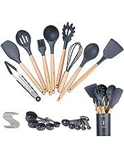 Silicone Cooking Utensils Set,30 Piece Kitchen Utensils Tools