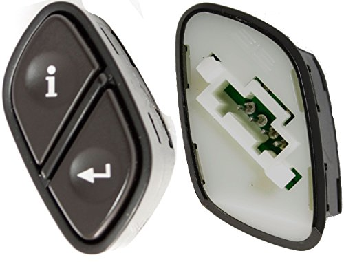 APDTY 012232 Driver Information Switch Info / Enter Button Mounts In Steering Wheel Fits Rainier Escalade Avalanche Silverado Suburban Tahoe Trailblazer Envoy Sierra Yukon Hummer (Replaces 21997739)