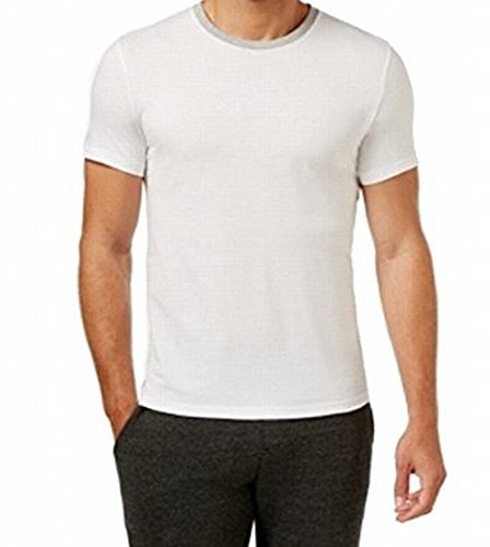 Kenneth Cole Reaction Downtime Ringer Short-Sleeve T-Shirt (X-Large, White)
