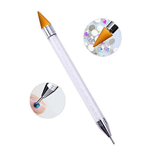 Crystal Applicator - GeneralCare Rhinestone Picker Wax Pencil Pen, Double Head Pick Up Applicator Tool for Nail Studs, Gems, Crystal, Jewel, Diamond, Stones