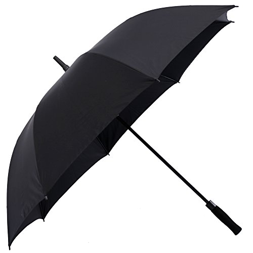 Artbisons Dual Layer Golf Umbrella 62 inches Extra Large Oversize Automatic Open Strong Windproof Waterproof Umbrella (Black 62