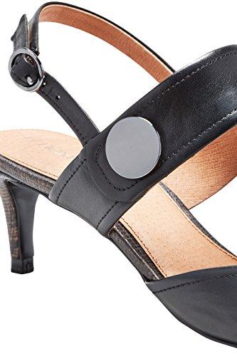 next Mujer Tacones bajos botón Corte Regular Negro