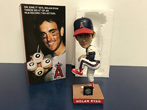 (Nolan Ryan California Angels 1975 career 4th NO HITTER 2017 STADIUM PROMO Bobblehead SGA)