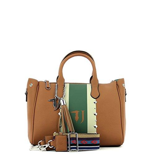 Bag Jeans à Sac 30 Tote main Leather cm Medium Blondie Stud Trussardi Ecoleather xYvqd80Y