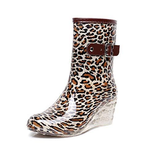 Magone Womens High Heel Slip On Rain Boot