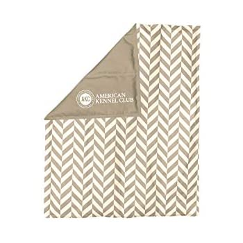 AKC Large Reversible Herringbone Print Cooling Mat Pet Bed, Tan