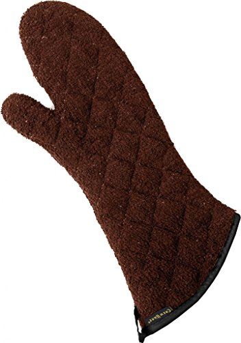 - San Jamar 817TM Heavy Duty Terry Cloth Temperature Protection Oven Mitt, 17
