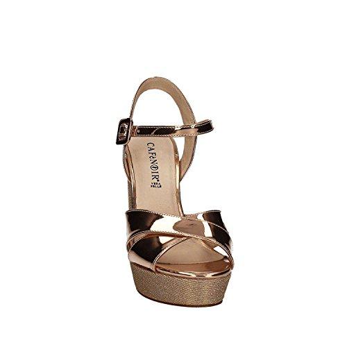 CAF NOIR LG918 sandalias de tacón multiantracite correa de bandejas de plata 1947 MULTICIPRIA