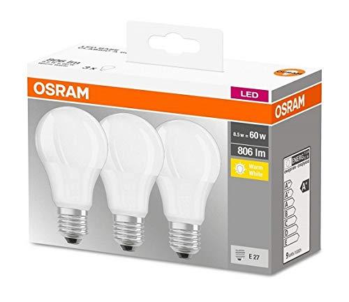 Osram Base Classic A Lampara Led E27 60w Color Calido Paquete De 3