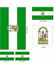 U24 stickervel Andalusië stickers set vlag vlag