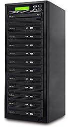 BestDuplicator DVD Duplicator Built-in BD Certified 24x Burner (1 to 11 Target) Copier Tower Replication Recorder + Free Nero Multimedia Suite 10 Essentials CD/DVD Burner Software