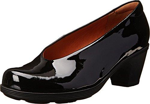 (CLARKS Women's Brigita Divine,Black Patent Leather,US 9.5 M)