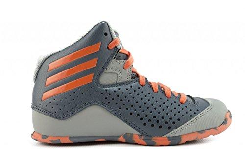 adidas Nxt Lvl Spd Iv K, Zapatillas de Baloncesto Unisex Bebé Plata / Naranja / Gris (Onix / Narsup / Grpumg)