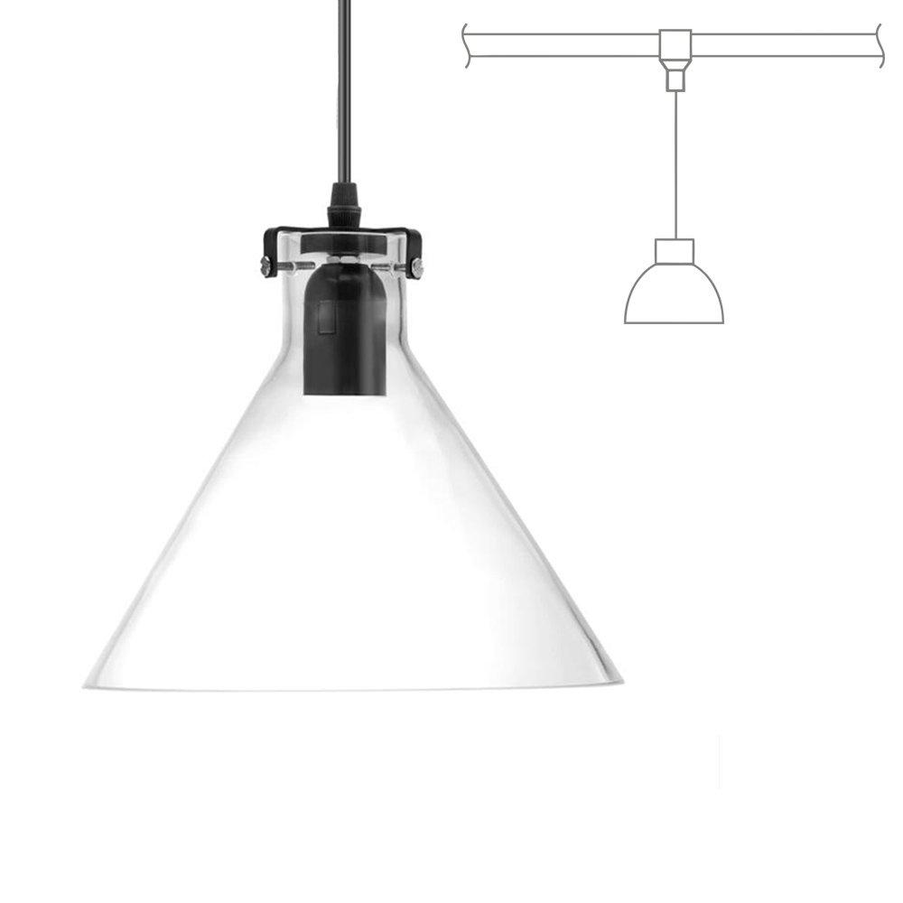 Kiven H-Type 3 Wire Glass Track Light Pendants Length 39.37 Restaurant Chandelier Decorative Chandelier Instant Pendant Light Bulb not Include Industrial Factory Pendant Lamp (TB0265-B) by Kiven (Image #2)