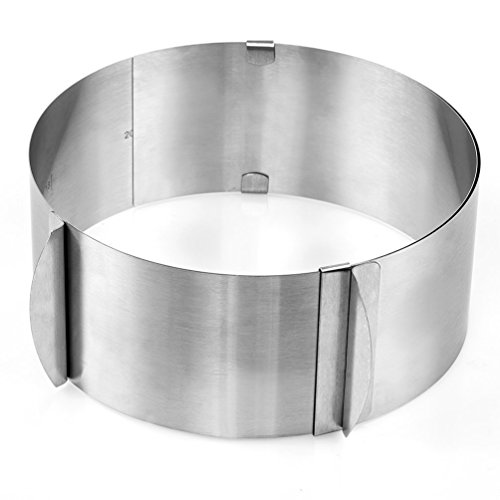 "Blacklip Kitchen Pastry Tools Stainless Steel Mousse Cake Ring Mold (6-12"" Cake Ring)"
