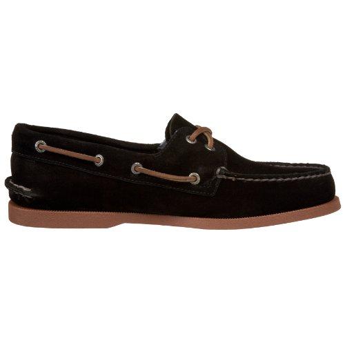 ... Sperry Authentic Original 2-Eye 0836981 - Zapatos de cuero para hombre  Negro