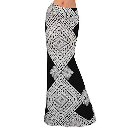 Aunimeifly Woman's Summer High Waist Print Skinny Long Skirt Lady's Stylish Bohemian Maxi Skirts