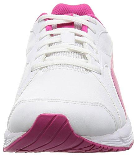 Puma Unisex-Kinder Axis V4 SL Sneaker, Mehrfarbig Bianco/Beetroot Purple