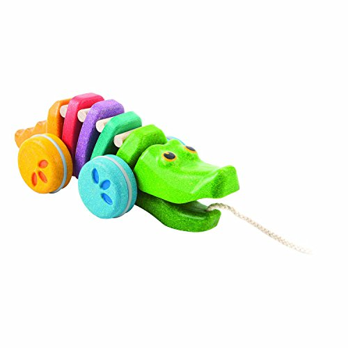 (PlanToys 1416 Rainbow Alligator Baby Toy)