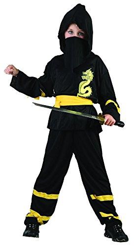 Disfraz amarillo de ninja dragon para niño: Amazon.es ...