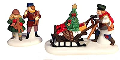 "Department 56 ""Gingerbread Vendor"" Set of 2 Retired"