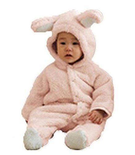 Teddy Winter - Luckyauction Baby Toddler Winter Cute Bear Fleece Romper Pink
