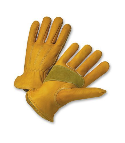 West Chester Holdings 84000/L Master Guard Premium Grain Cowhide Driver Glove, Gold by West Chester