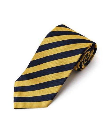 Yellow & Navy School College Woven Stripe Tie , 57