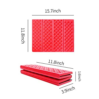 AceCamp 3940 Portable Lightweight Mini Waterproof Folding Mat, Foam Sitting Pad for Outdoor Activities, Foldable Kneeling and Seat Cushion for Comfort, Red : Sports & Outdoors